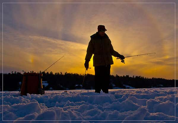 Рыбалка в январе