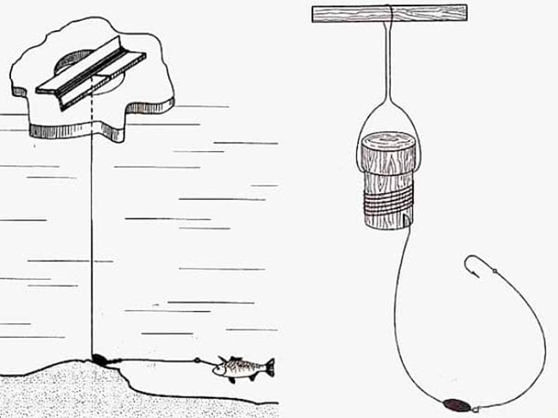 Как правильно поставить жерлицу на налима