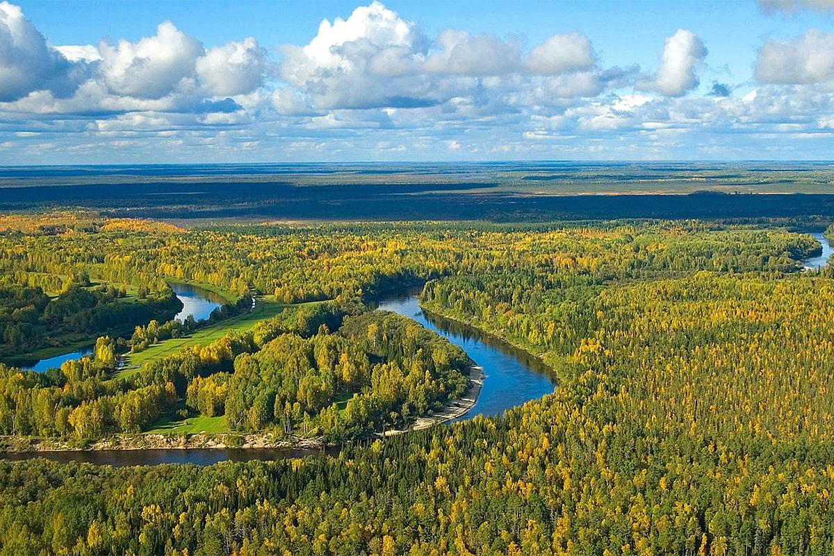 Карта рыболовных мест Томской области