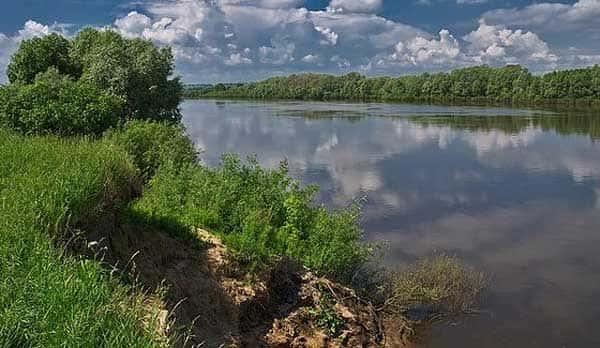 Карта рыболовных мест Рязанской области